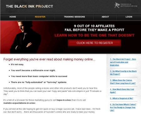 jeremy palmer black ink project