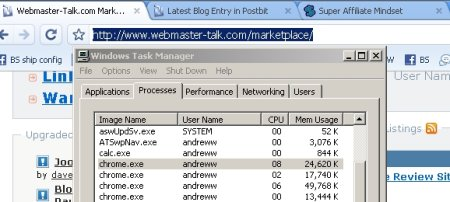 Verdict on Google Chrome? – Memory Hog | Andrew Wee | Blogging